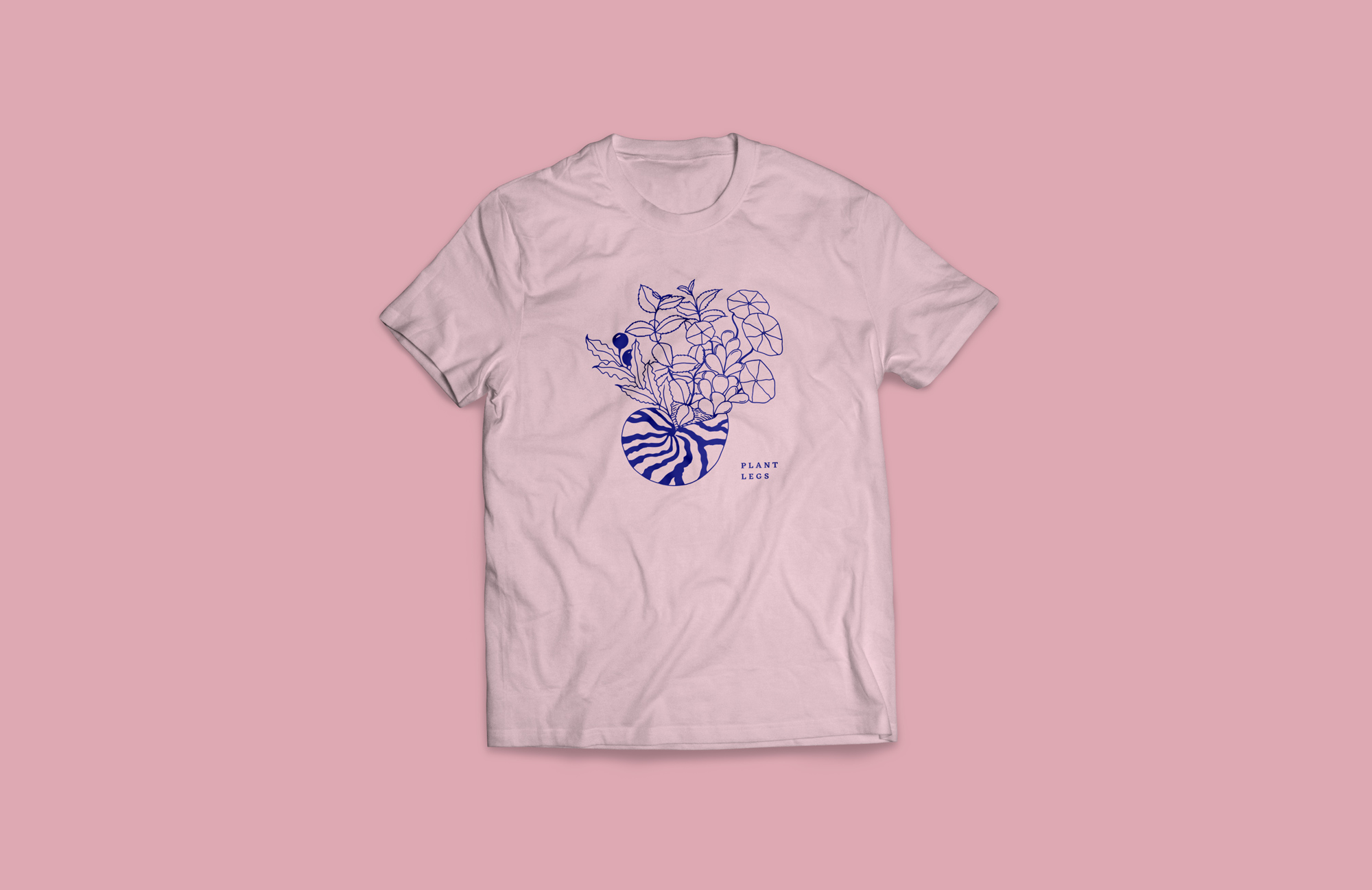 Plant legs t-shirt art by Robin Richardson-Dupuis