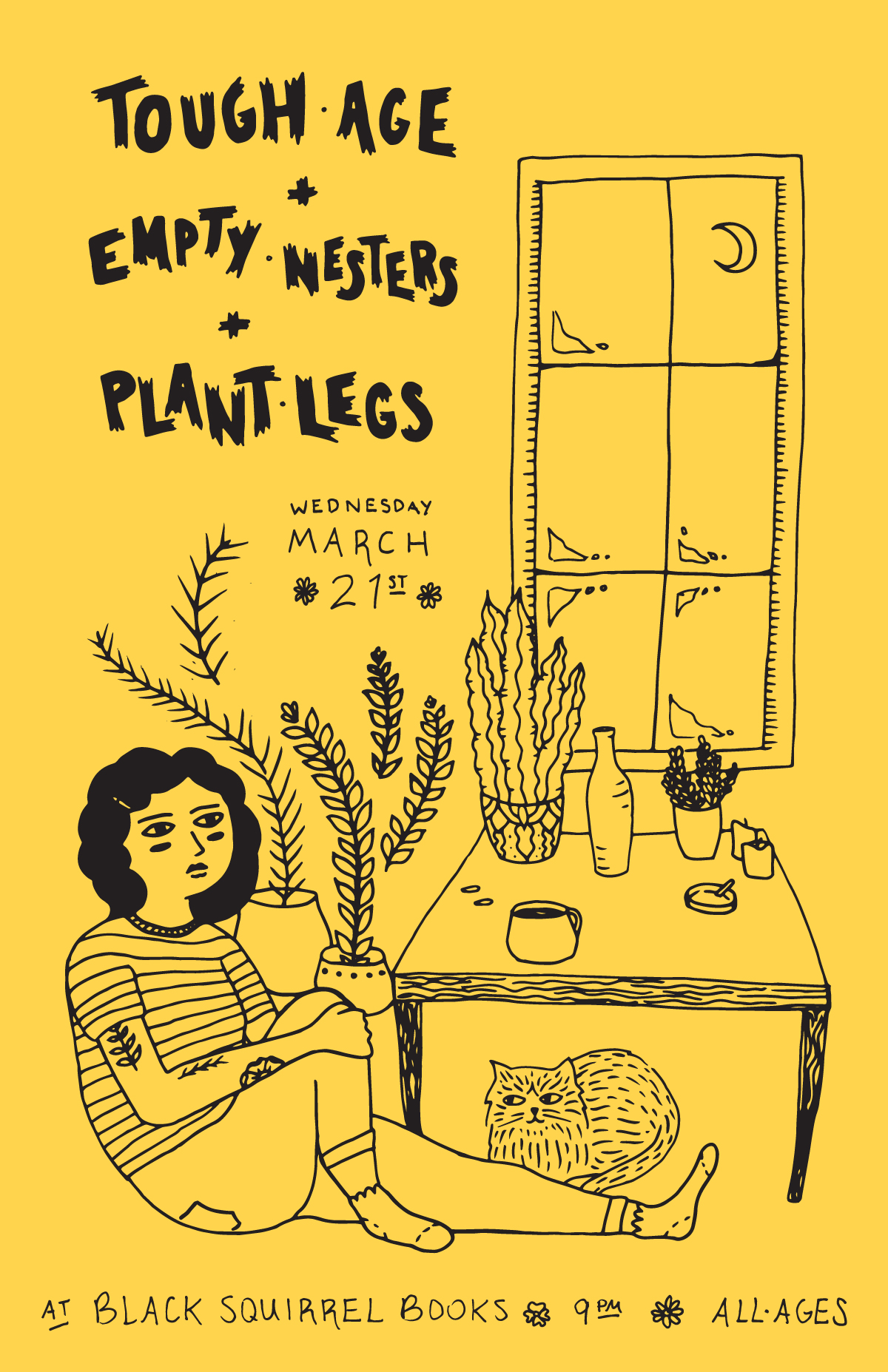 plant legs show poster by robin richardson-dupuis